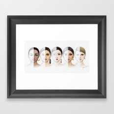Beauty is diverse, diversity is beautiful. Framed Art Print
