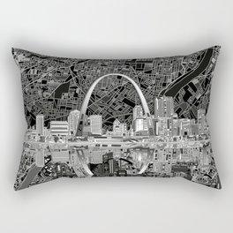 st louis city skyline map Rectangular Pillow