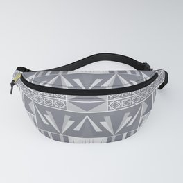 Art Deco Abstract Soft Grey Fanny Pack