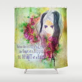 Gypsy Hippie Fairy Shower Curtain