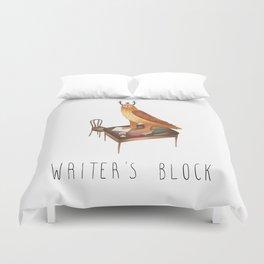 Writer's block Duvet Cover
