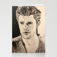 wesley bird Stationery Cards featuring Paul Wesley by vanessa