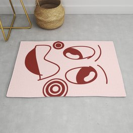 Pea faces abstract  Rug