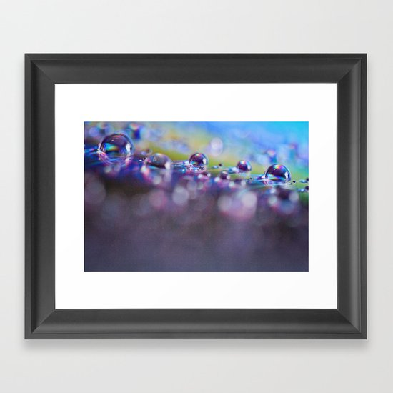Rainbow Bubbles Framed Art Print