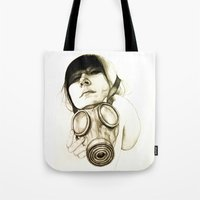 mask Tote Bags featuring MASK by lantomo