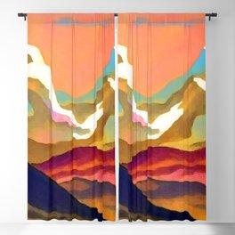 Nicholas Roerich Mountains Blackout Curtain