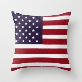 USA Star Spangled Banner Flag Throw Pillow