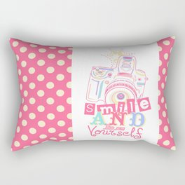 Smile and be Yourself - Pastel Camera Rectangular Pillow