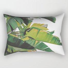 Banana Leaves IV {White} Rectangular Pillow