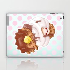 Doll faced syrup covered waffle Laptop & iPad Skin