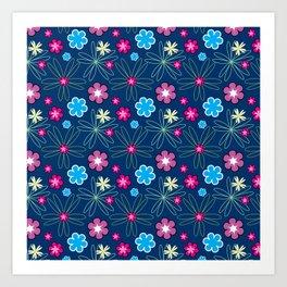 Multifloral Pattern Art Print