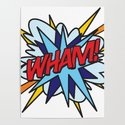 WHAM Comic Book Flash Pop Art Trendy Cool Typography by theimagezone