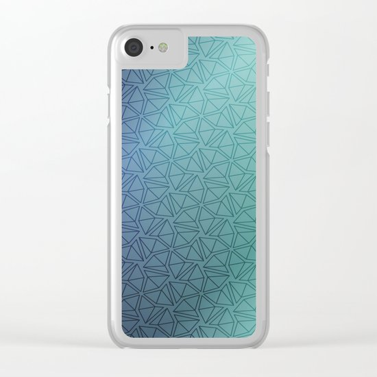 Gradient Web Clear iPhone Case