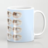 brand new Mugs featuring Brand New Ice Tea by mofart photomontages