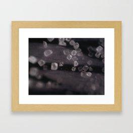 Salt-Flakes Framed Art Print