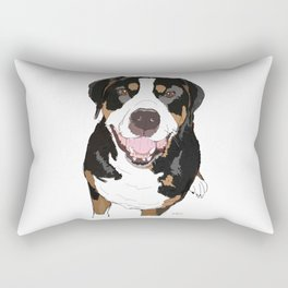 Rottweiler Dog Family Rectangular Pillow