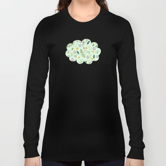 Floral Greenery Pattern I Long Sleeve T-shirt
