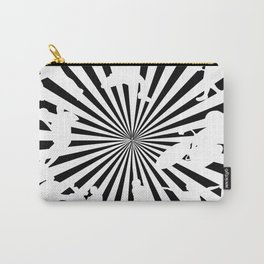 Sports figures in abstract background Carry-All Pouch