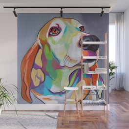 Millie the Basset Hound Wall Mural