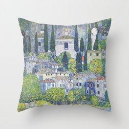 Gustav Klimt Church in Cassone Throw Pillow