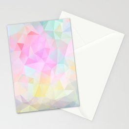 Abstract print of triangles, polygon in pastel colors Stationery Cards