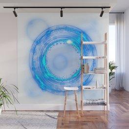 Blue light effect background Wall Mural