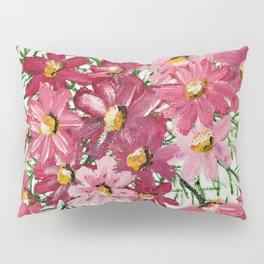 PINK PETALS & LEAVES Pillow Sham