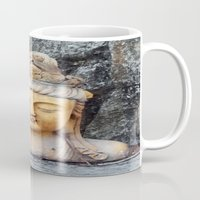 asian Mugs featuring ASIAN GODDESS by JANUARY FROST