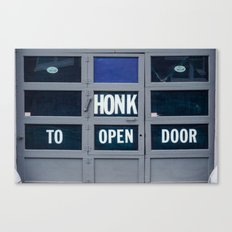 Garage Door - Honk Canvas Print