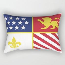 City of Detroit Flag in Minimal Design | Coat of Arms Rectangular Pillow