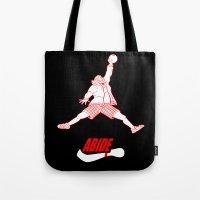 lebowski Tote Bags featuring Air Lebowski by sinistergrynn