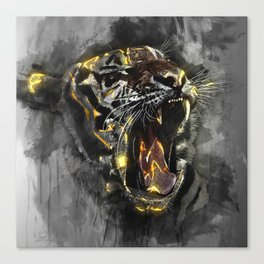Black Tiger Canvas Print