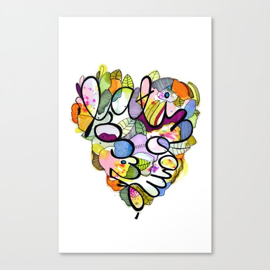 Latinoamérica LOVE Canvas Print