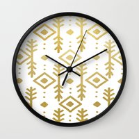 nordic Wall Clocks featuring GOLD NORDIC by Nika