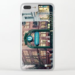 Subway 1 Clear iPhone Case