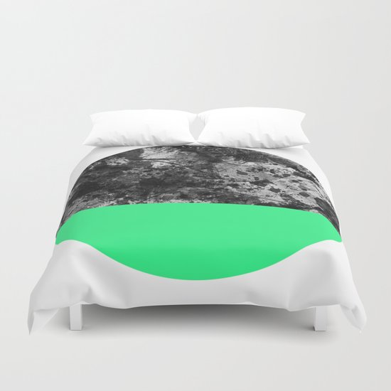 Bathing Moon (In Green) Duvet Cover
