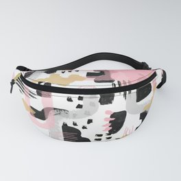 Mosaic Abstract Pink, Black Fanny Pack