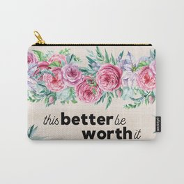funny floral makeup bag Carry-All Pouch