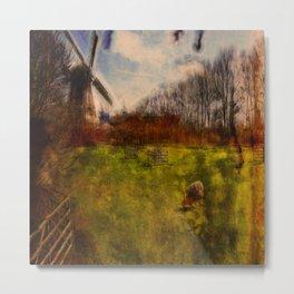 Romantic Wind Mill Metal Print