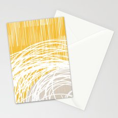 Yellow Doodle Floral by Friztin Stationery Cards
