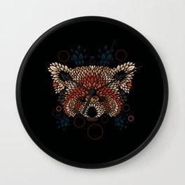 Red Panda Face Wall Clock