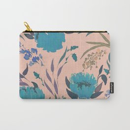 hand draw watercolor floral pattern design Carry-All Pouch