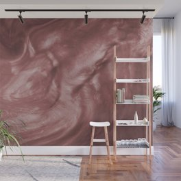 Flowing Mauve Pearlescent Haze Fluid Art Illustration Wall Mural