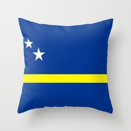 Curacao country flag Throw Pillow