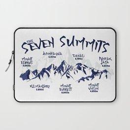 The Seven Summits Mountain Climbing Laptop Sleeve