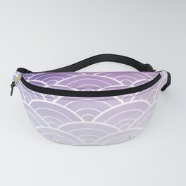Purple Ombre Japanese Waves Pattern Fanny Pack