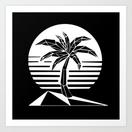 New Retro Palm Art Print