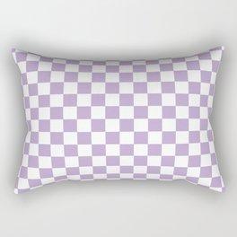 Lavender Checkerboard Pattern Rectangular Pillow
