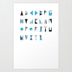 geo type Art Print