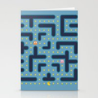 pacman Stationery Cards featuring RETRO GAME by Vickn